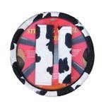 Animal Print Steering Wheel Cover and Shoulder Pad &#8211; Cow